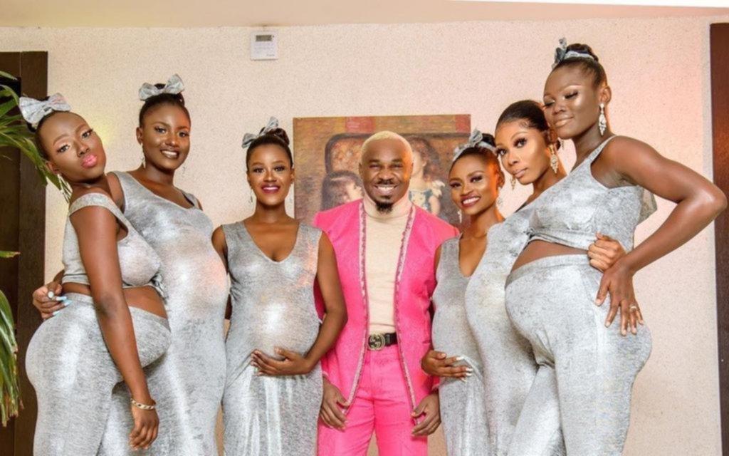 Revuelo en las redes por el nigeriano que fue a una fiesta con sus 6 novias embarazadas