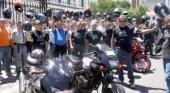 Protesta de motoqueros en el centro platense