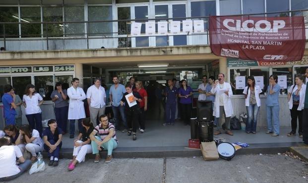 Protestas y asambleas en hospitales públicos bonaerenses