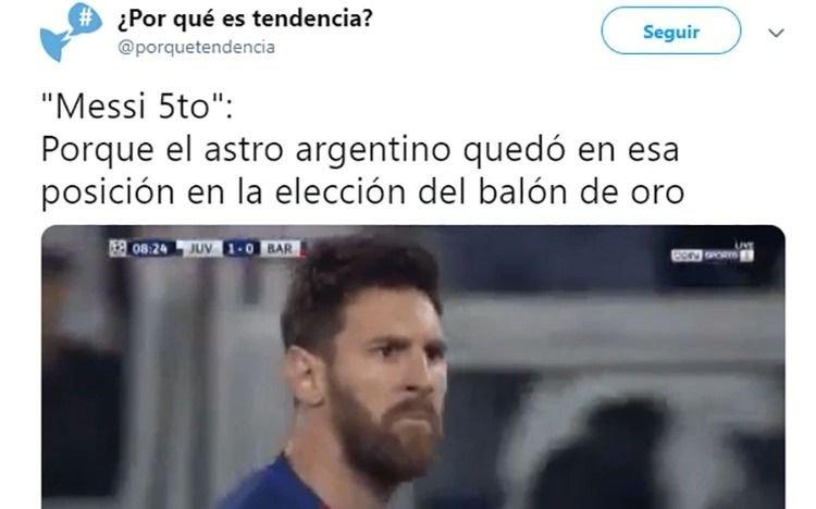 Bronca: Estallaron las redes por el quinto lugar de Messi en el Balón de Oro
