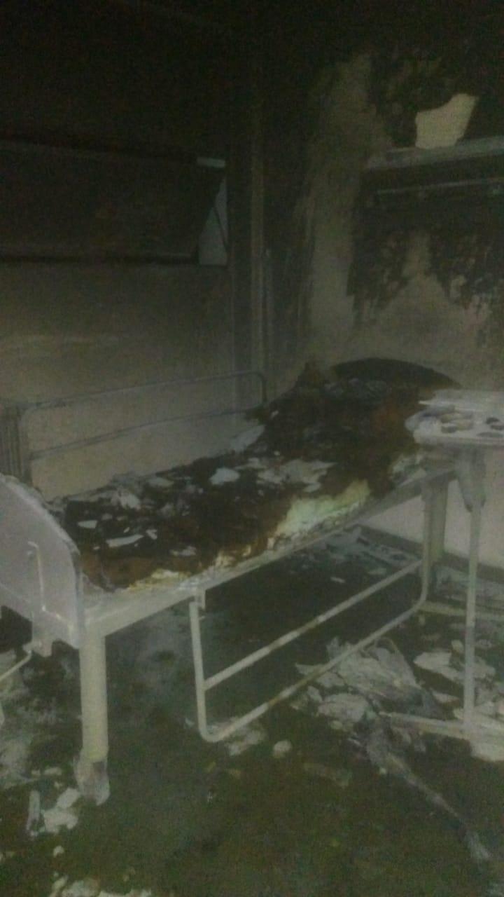 Tensión y corridas por un incendio en una habitación del hospital de Gonnet