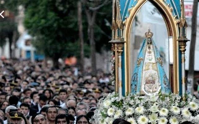 Más de 110 mil fieles llegaron para la procesión de la Virgen del Valle