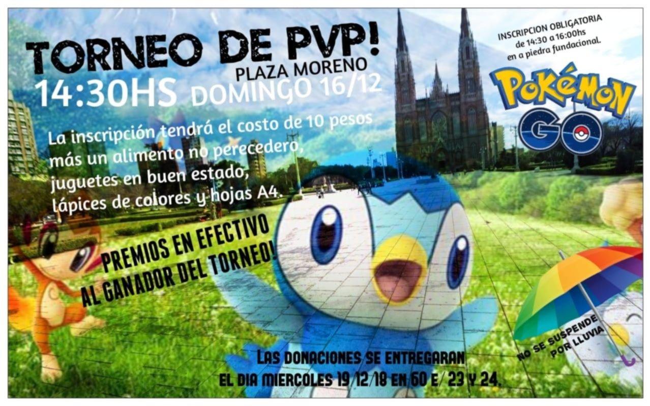 Torneo de PVP de Pokemon Go para juntar donaciones