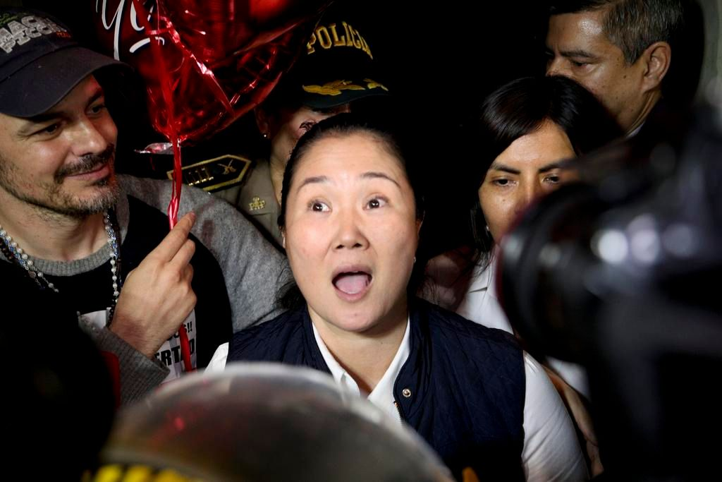 Tras pasar 13 meses en prisión, liberaron a Keiko Fujimori
