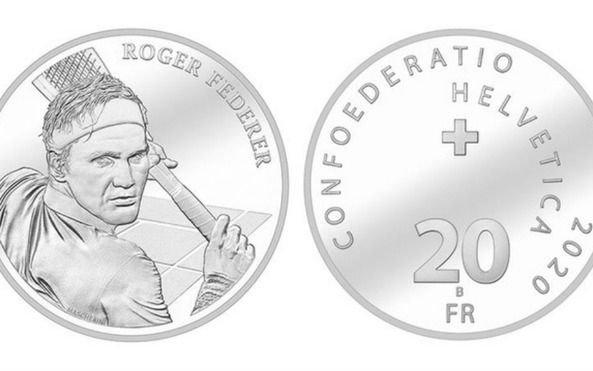 En Suiza, se vienen las monedas con la cara de Federer