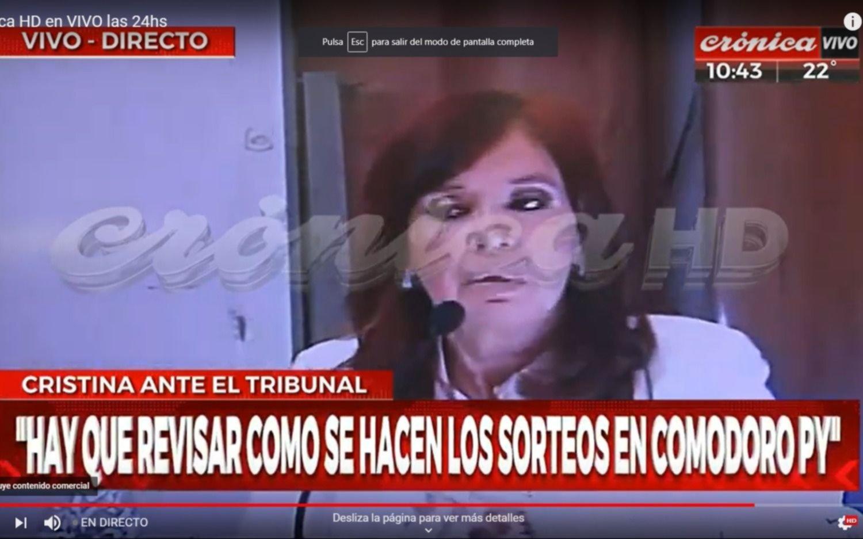 Cómo dos canales de TV transmitieron la indagatoria a Cristina, pese a la prohibición judicial
