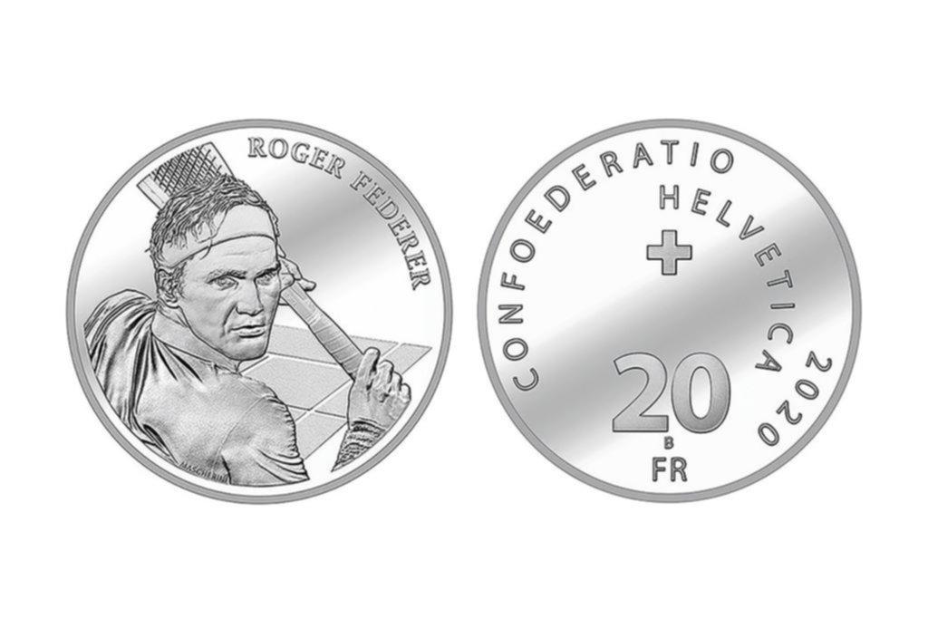 Federer es tan grande que el gobierno suizo lo homenajeó poniéndolo en una moneda