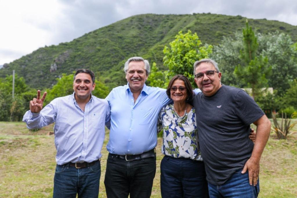 Fernández estuvo en Catamarca con Lucía Corpacci y Raúl Jalil