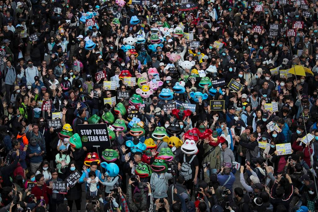 Otra marcha prodemocrática en Hong Kong