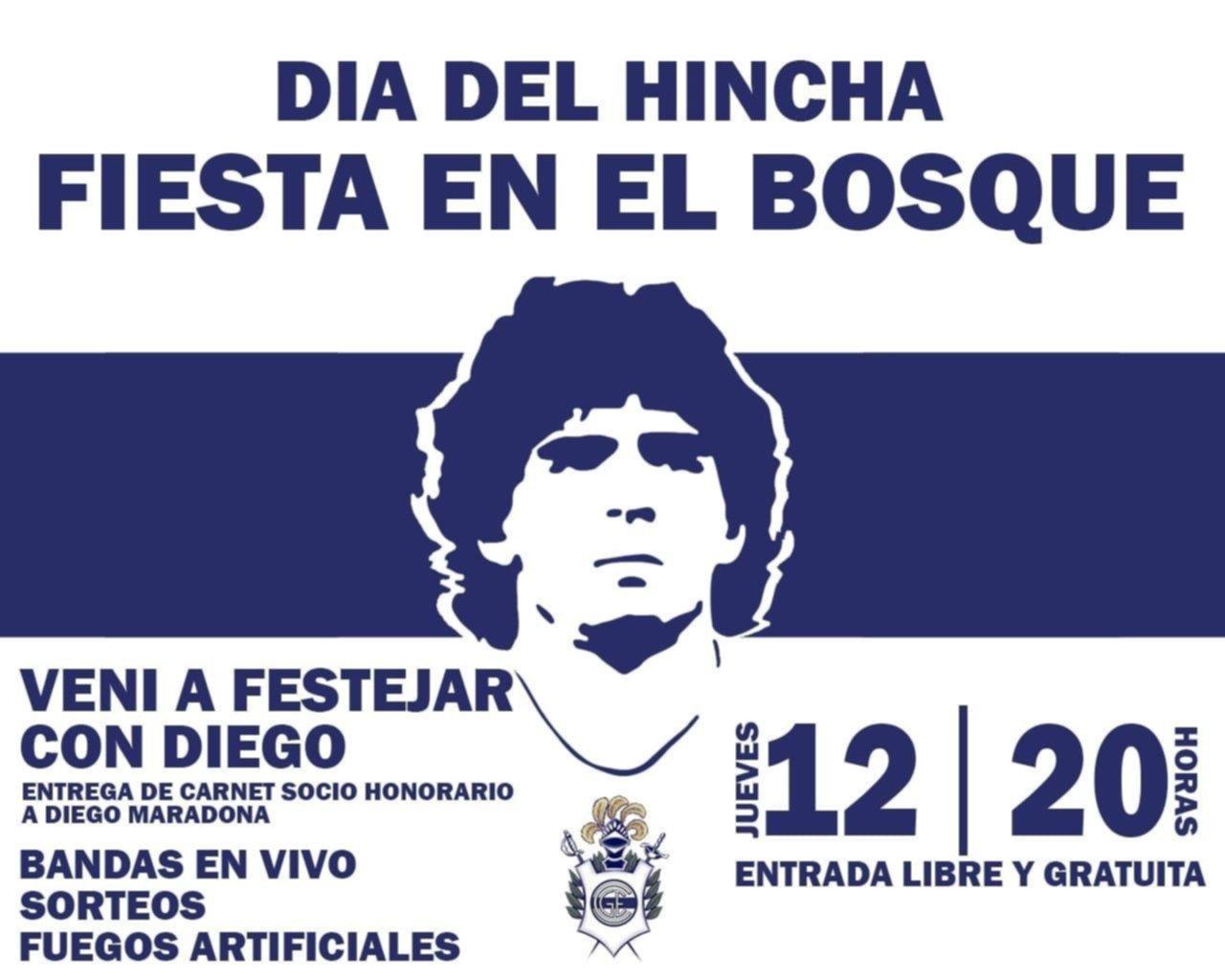 Día del Hincha con carnet de socio honorario para Maradona