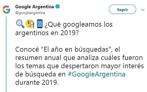 ¿Qué fue lo más buscado por los argentinos en Google en este 2019 que llega a su fin?