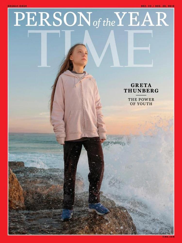 """Greta, la """"persona del año"""" más joven en la historia de Time"""