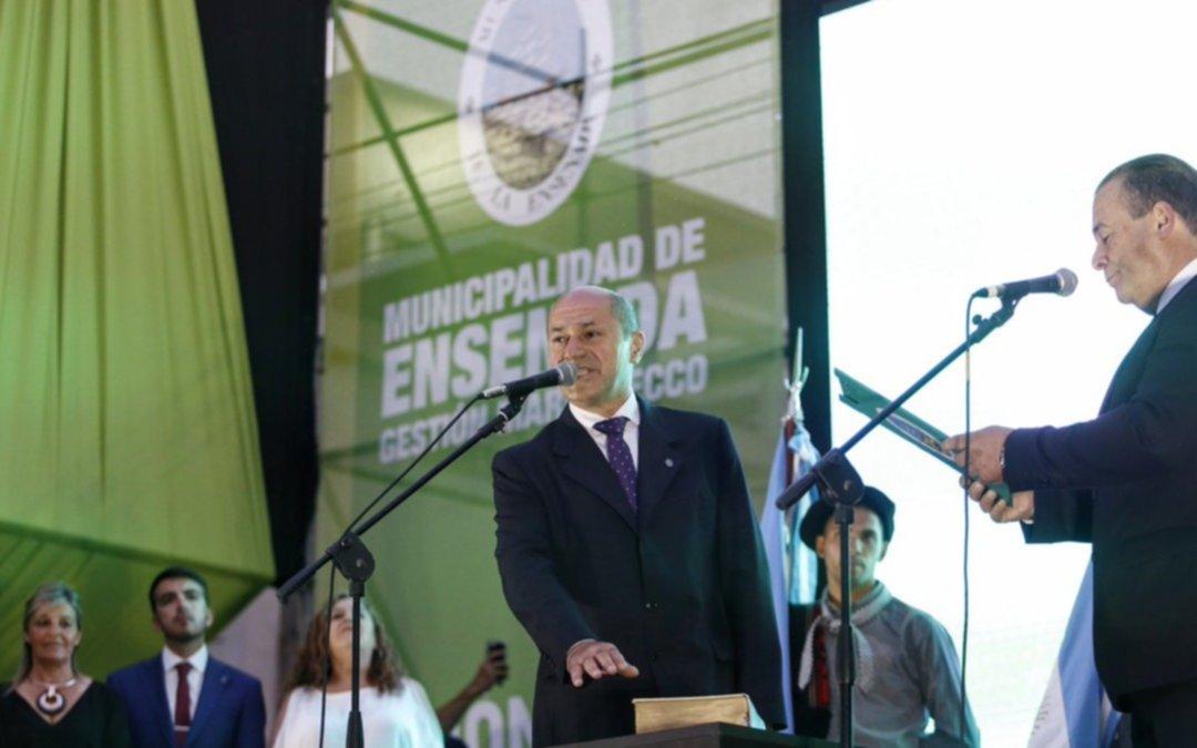 Secco asumió su quinto mandato como intendente de Ensenada
