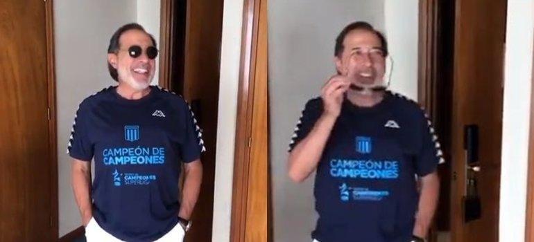 Racing madrugó con el humor de Guillermo Francella