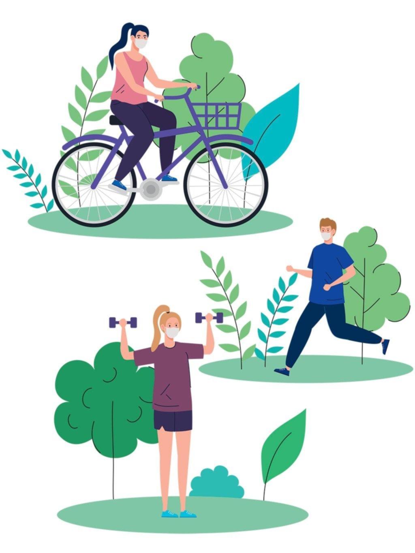 Tendencias: gimnasio, plaza o casa, todo sirve para el ejercicio físico