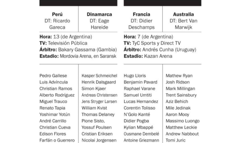 La última práctica del seleccionado de Perú antes del debut frente a los daneses /AP