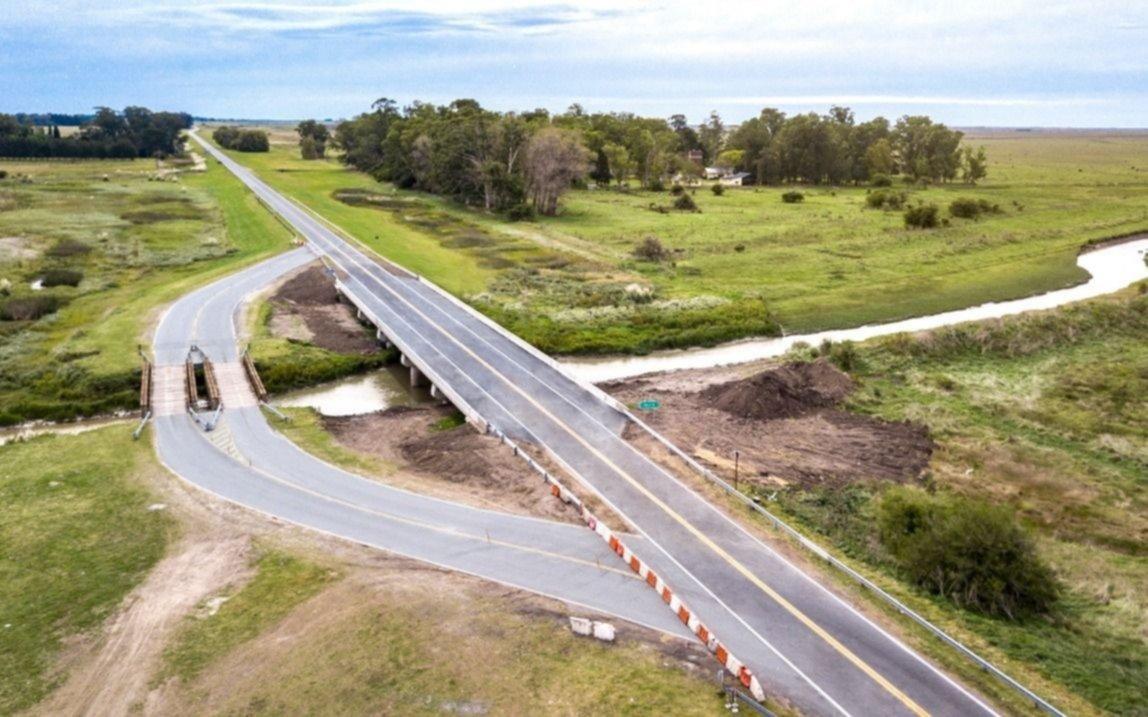 Habilitaron el nuevo puente sobre el canal A, en la Ruta 11