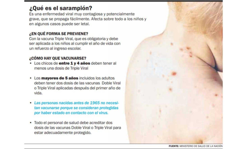 Investigan un posible caso de sarampión en La Plata