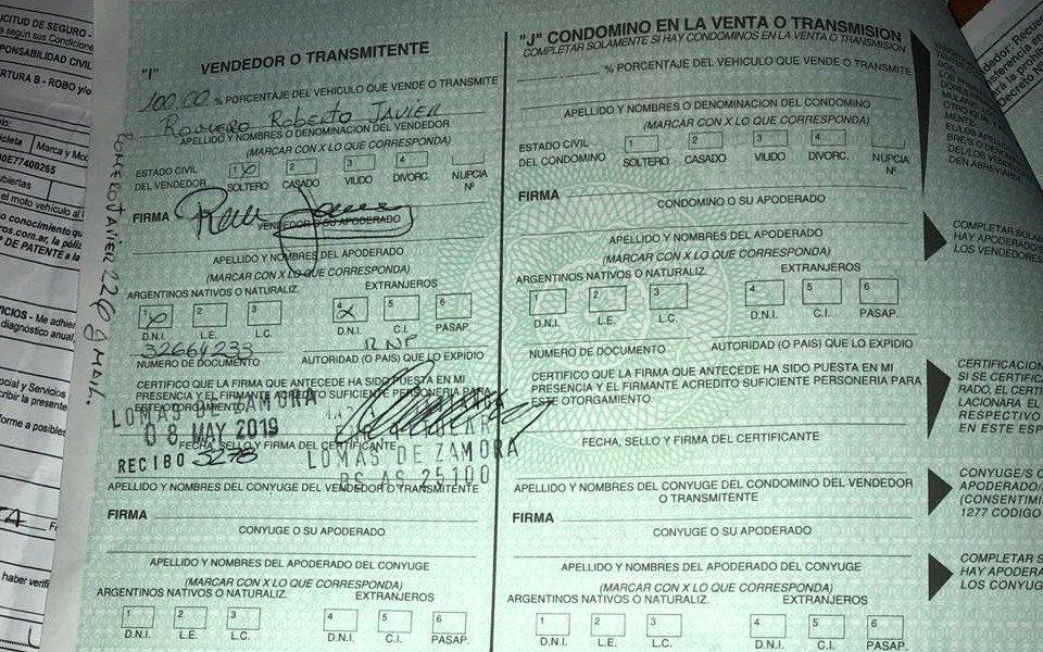 Se presentó a retirar la moto con un 08 falso: preso