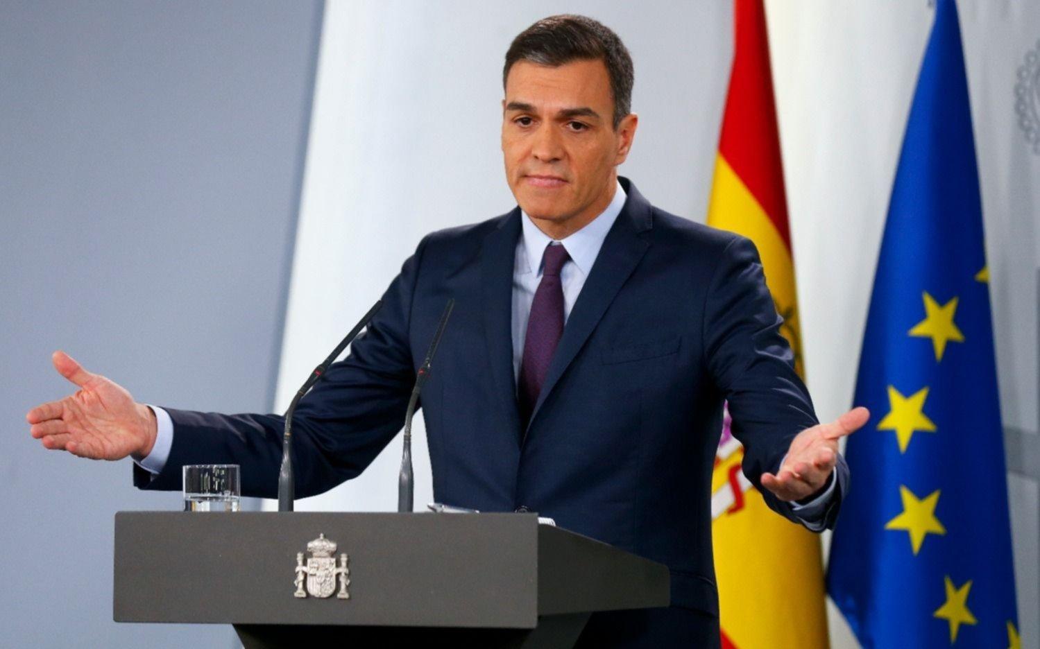 El primer ministro español Pedro Sánchez defiende su reelección en el Parlamento