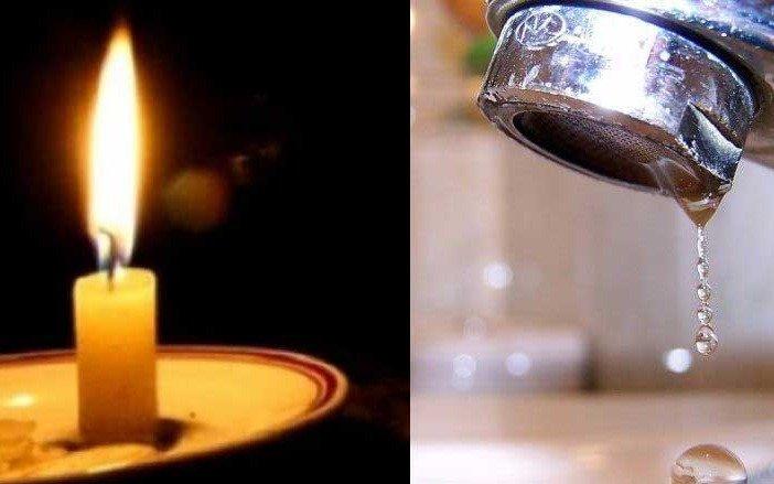 Fallas en los servicios de luz y agua tuvieron a maltraer a numerosos vecinos