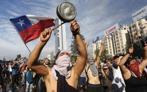 La economía chilena, golpeada