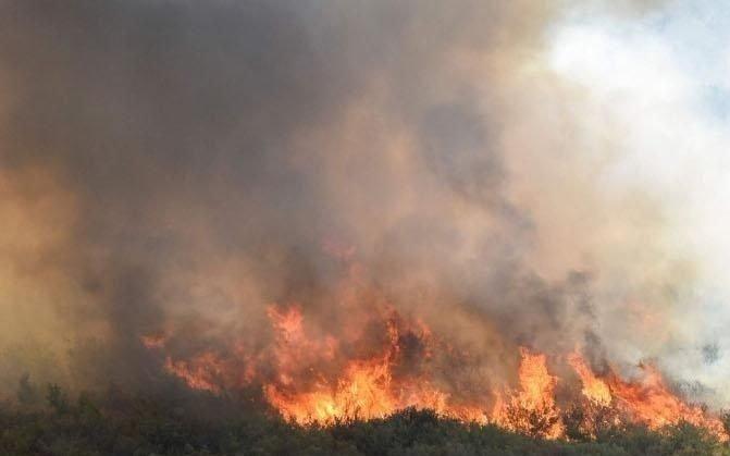 Los bomberos controlaron un incendio desatado en el cordón serrano del sur de la Provincia