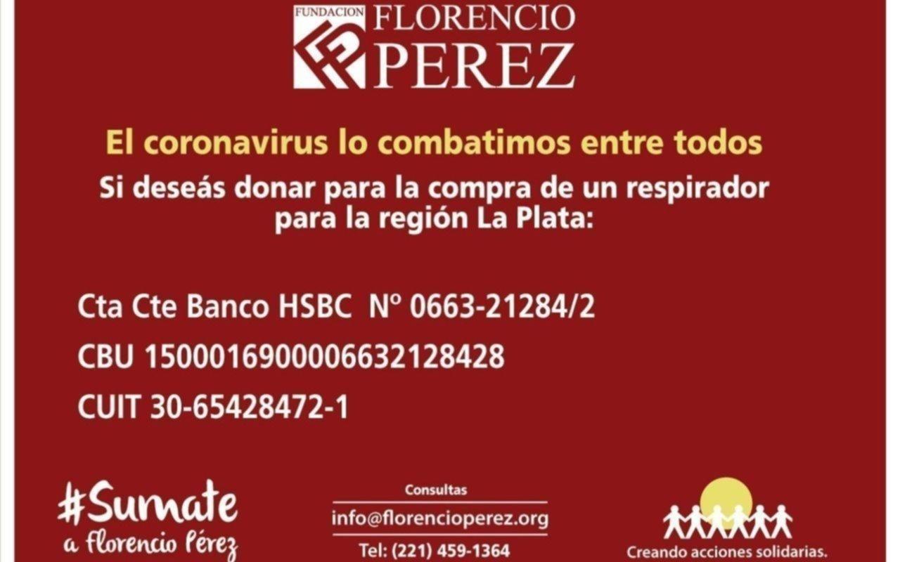 Más aportes a través de la Fundación Florencio Pérez para equipar hospitales