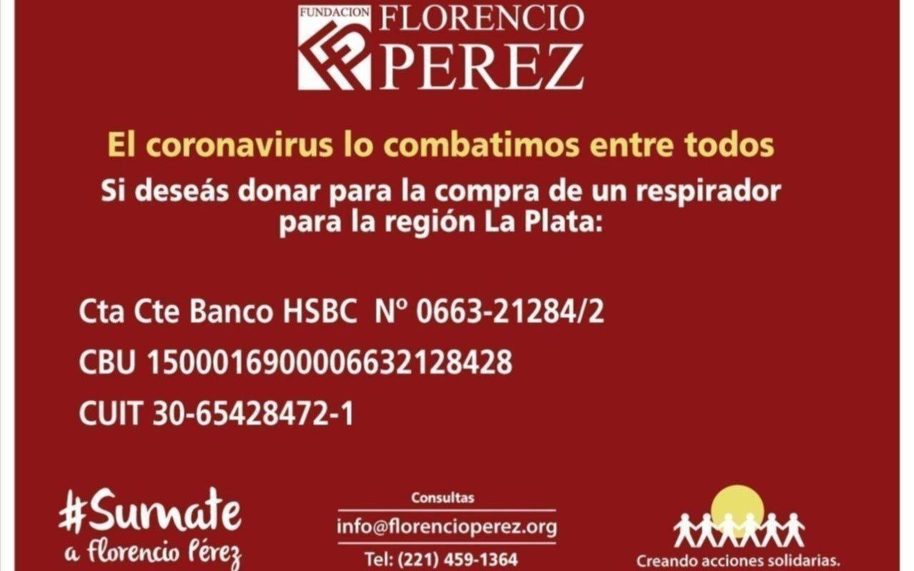 La cruzada solidaria de la Fundación Florencio Pérez suma donaciones