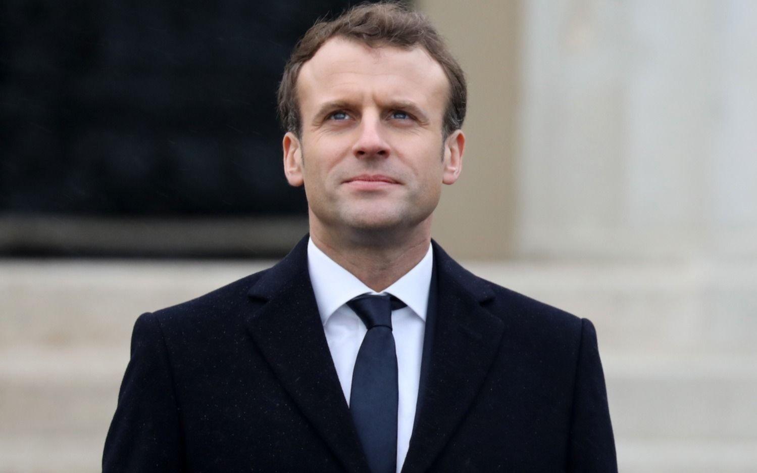 """Macron promete 15 mil millones de euros para una economía """"verde"""""""