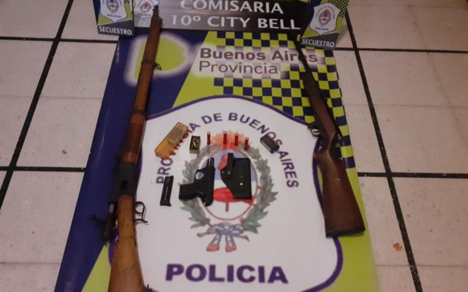Allanamiento y detención en City Bell a instancias de una causa por amenazas