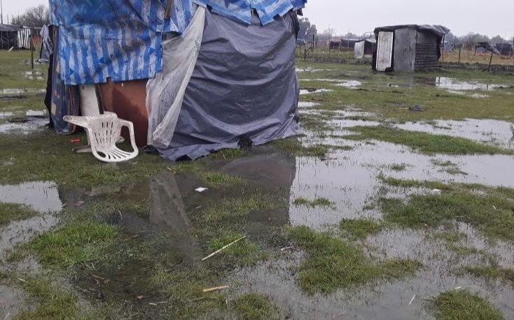 La lluvia y el fin de semana postergan el desalojo de los terrenos tomados de Guernica