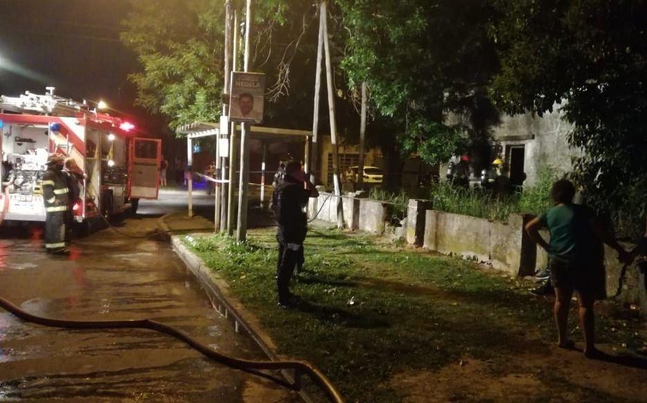 Murió un hombre al incendiarse su casa en Berisso