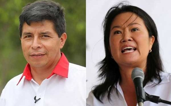Castillo y Fujimori, entre cruces, acusaciones, chicanas y promesas