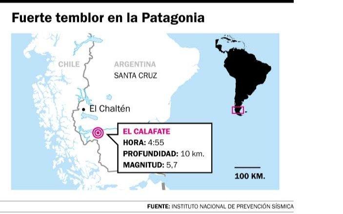 El sismo en El Calafate, con ecos en el Bosque
